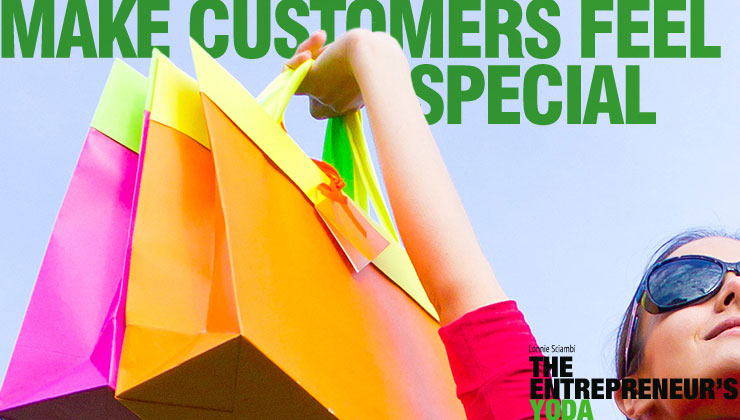 Customer service starts with treating them special