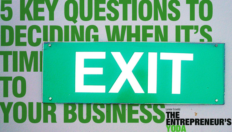 What is the exit stage of a business?