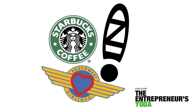 "Examples of companies with great ""why"" strategies: Zappo's, Starbucks, and Southwest Airlines."