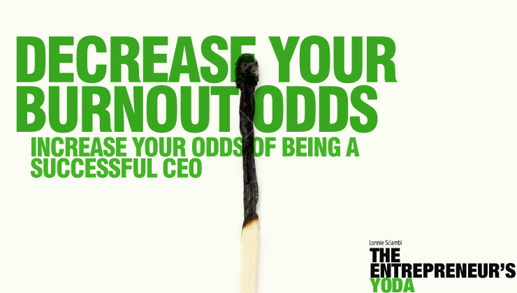 Avoid CEO burnout